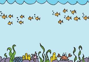Vector de fundo subaquático grátis