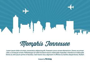 Memphis Tennessee Horizon Illustratie