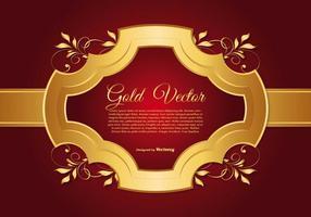 Elegant guld- och röd bakgrunds illustration