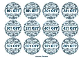 Grunge Discount Label Set