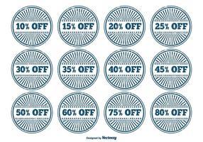 Grunge Discount Label Set vector