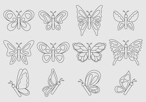 Linear Vector Butterflies
