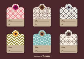Etiquetas para regalos decorativos vector