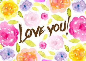 Romantic Watercolored floral Background
