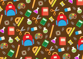 School utensils icons background vector