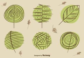 Sketchy organic shapes vector