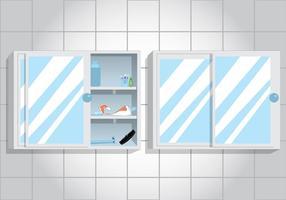 Vectores del estante del gabinete de baño