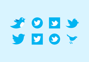 Various Twitter Vector Icons For Download