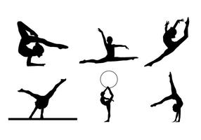 Gymnastiska siluettvektorer