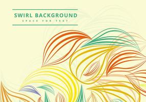 Swirly colorful lines vector
