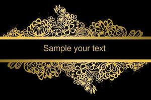 Vector do laço do quadro de ouro