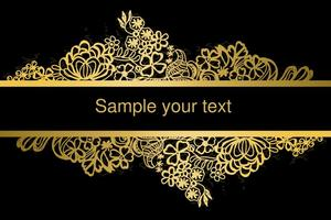 Gold Frame Lace Vektor