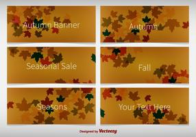 Autumnal Background Banners