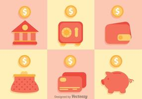 Iconos de ahorro bancario
