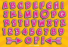 Comic Style Alphabet Set