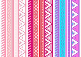 Free Pink Aztec Geometric Seamless Vector Pattern