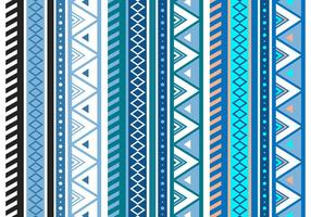 Blue Aztec Geometric Seamless Vector Pattern
