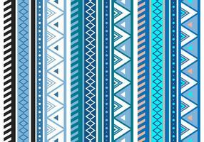Blue Aztec Geometric Seamless Vector Pattern