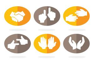 Hand Platt Ikon Vektorer