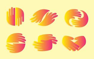 Handshake Gradation Icons vector