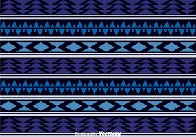 Dark Blue Aztec Pattern vector