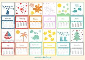 Modelo de calendário infantil