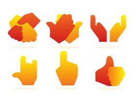 Iconos de Gradación de la Mano vector