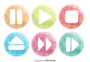 Watercolor Media Buttons