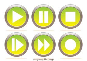 Media Player Metal Buttons