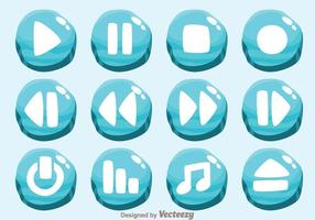 Ice Media Player Button Vectors