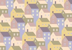 Houses Pattern Background vector