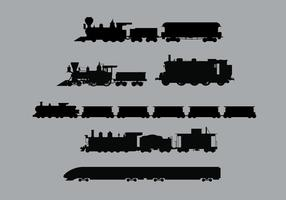 Train Vector Silhouettes