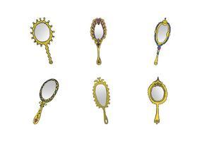 Série de vetores de espelho de mão vintage gratuita