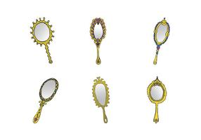 Gratis Vintage Hand Mirror Vector Series