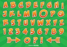 Comic-Stil Alphabet Set