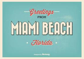 Miami Beach hälsningar illustration