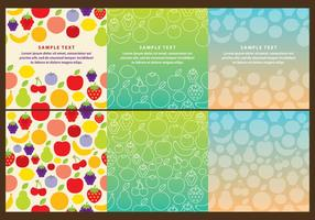 Fruits Backgrounds Vectors