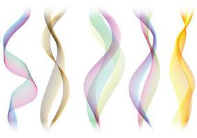 Coloridos vectores de humo