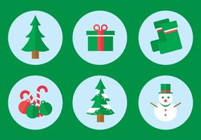 Kerst pictogram vector set