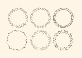 Cute Hand Drawn Frame Set vector