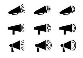 Vetor de ícone de megafone grátis
