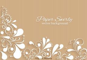 Papel libre Swirly Vector de fondo