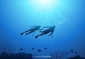 Fundo subaquático livre do vetor