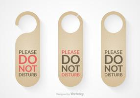 Free Do Not Disturb Door Hanger Vector Set