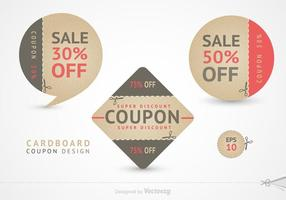 Gratis Schaar Coupon Vector Design