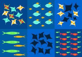 Unterwasser-Hintergrund-Vektoren