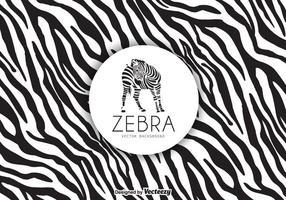 Freier Zebra-Druck-Hintergrund-Vektor