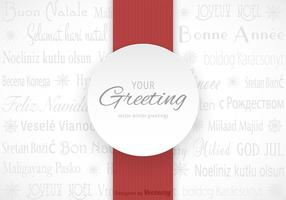 Carte vectorielle Multilingual Winter Greetings