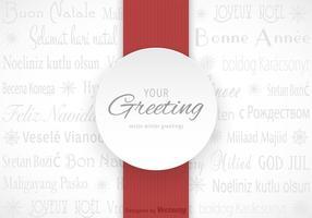 Tarjeta Multilingüe Multilingüe de los Saludos Del Invierno