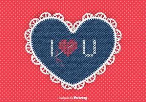 Free Vector Needlework Heart